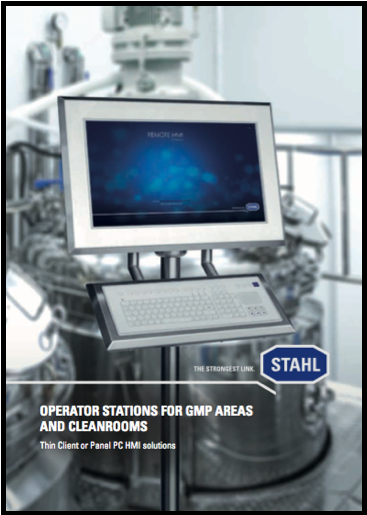 Operator stations for GMP areas and cleanrooms